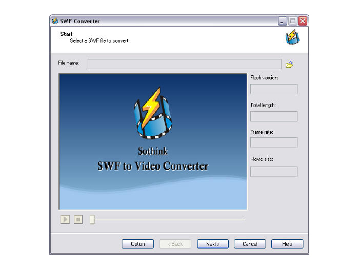 SWF to Video Converter Interface